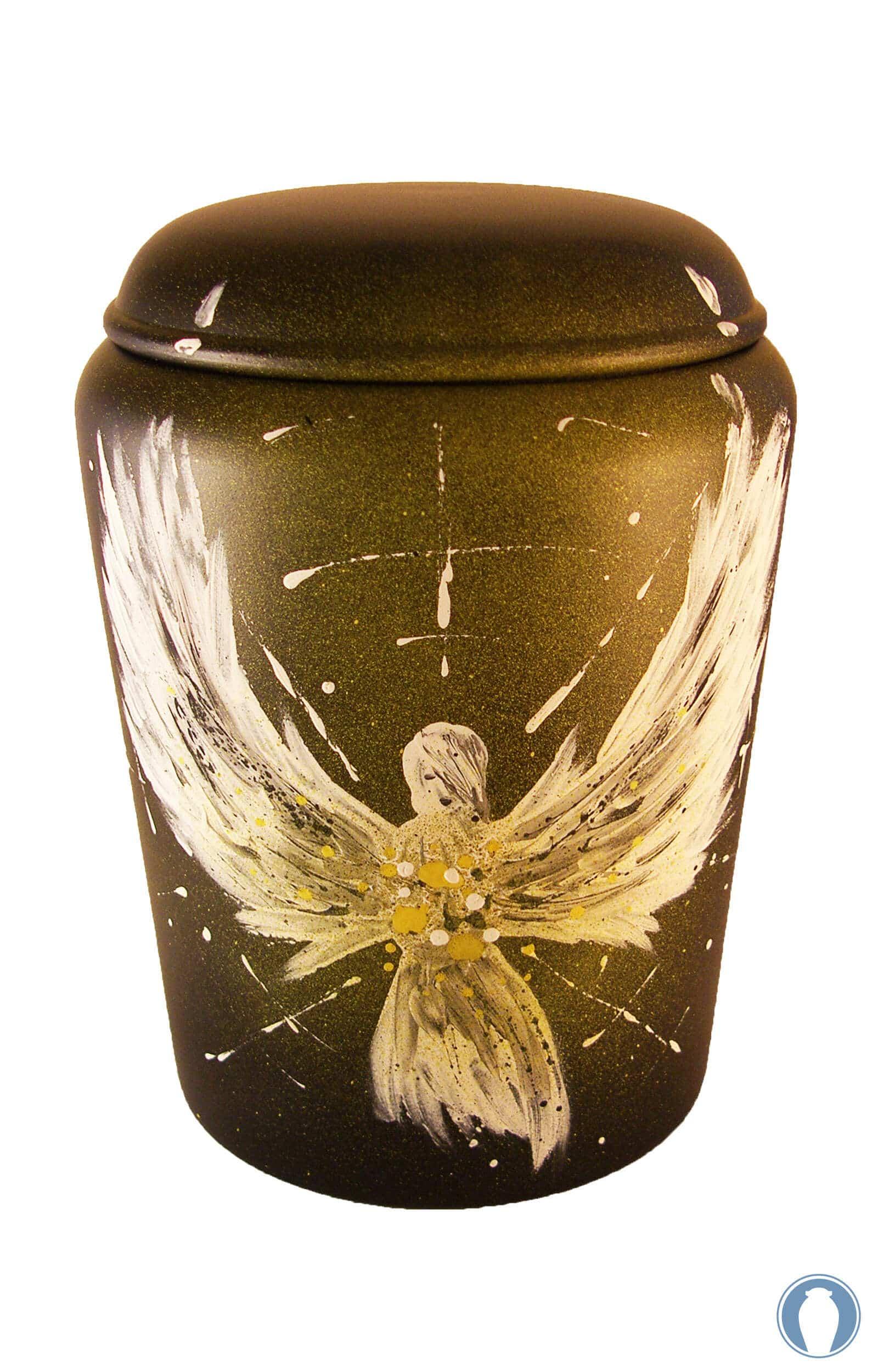 de BE3310 Bio Urne comar Engel des lichtes Biourne kaufen gelb weiss