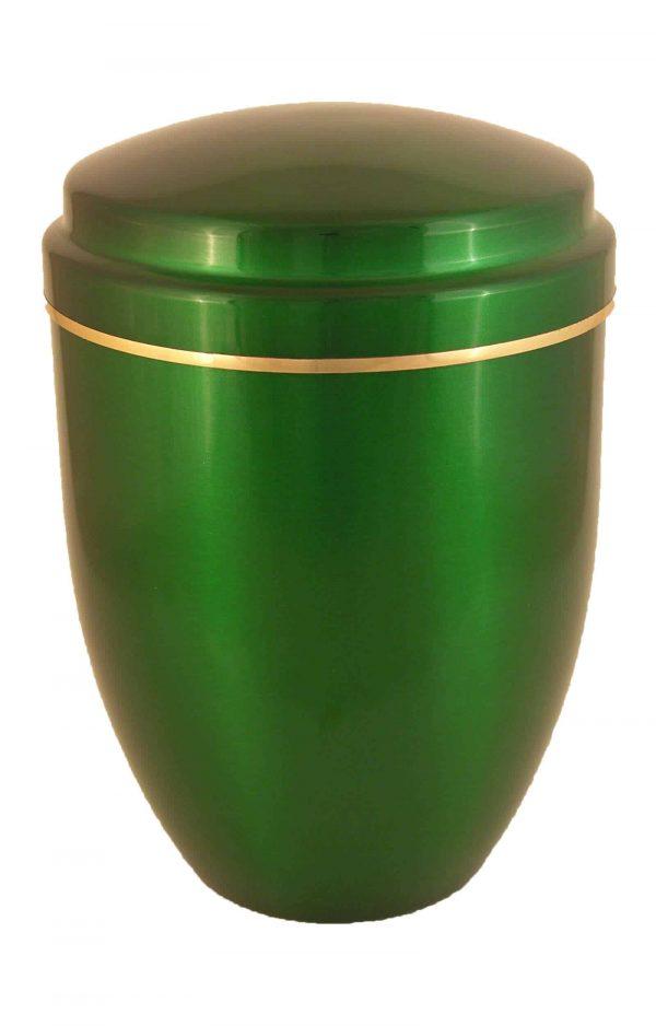 † edel Urnen kaufen Metall Urne Metallurne grün hellgrün †