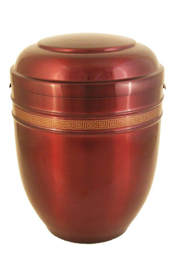 Metallurne Metall Urne ✓ rot gold glänzende Urnen kaufen ➥