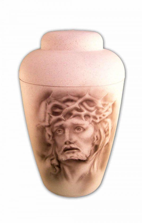 ✯ Bio Urne Airbrush Jesusschwarz weiss Urnen kaufen ✔