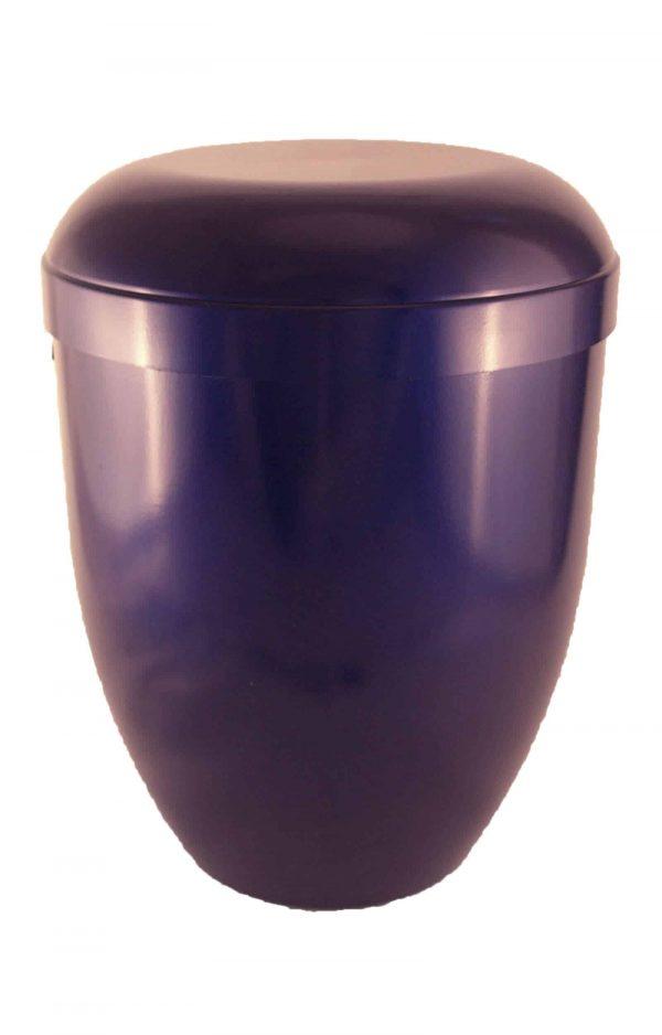 Bio Urne glänzend blau - Urne kaufen