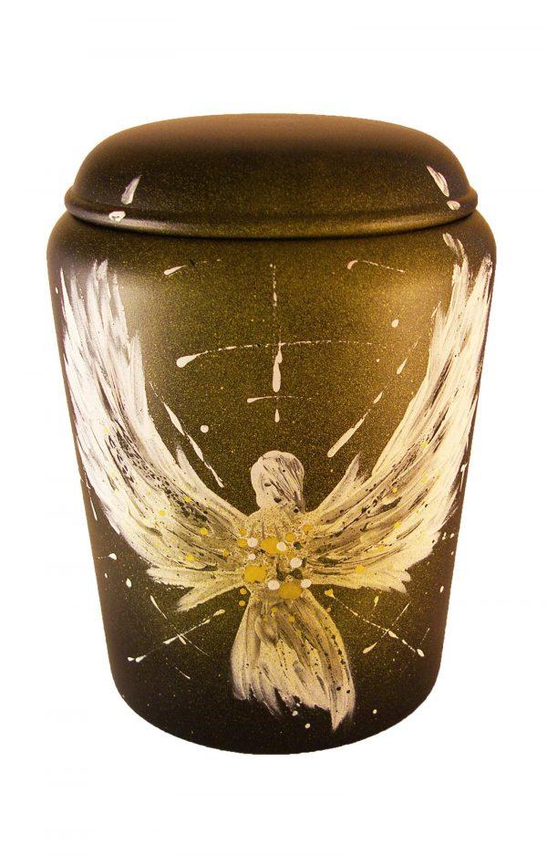 Bio Urne comar Engel des Lichtes Biourne Urnen kaufen gelb weiss