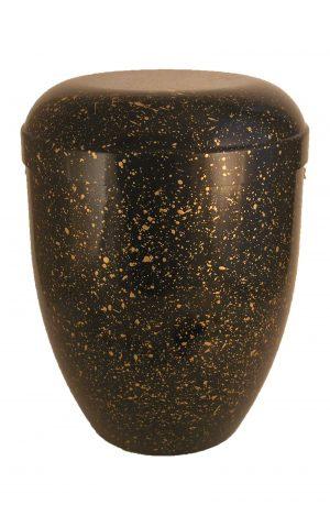de BSG3620 bio urne schwarz gold urnen kaufen biourne schmuckurne