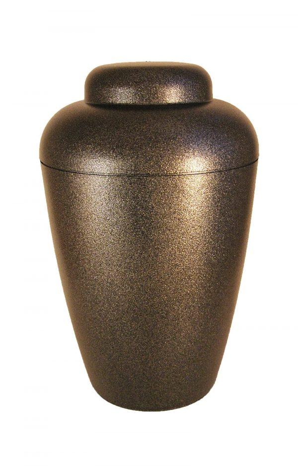 † Bio Urne schwarz glänzend mit Sternenstaub Effekt ❖ edel Urnen kaufen ✔