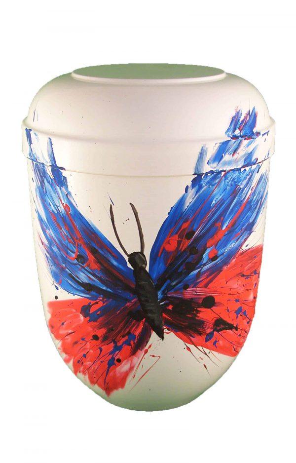 Bio Urne weiss comar Schmetterling der Wiederauferstehung Urnen kaufen Biourne ➜
