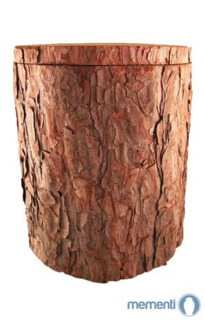 Baumstammurne asu Kiefernholz - natur Bestattungsurne aus Kiefer- Holzurne