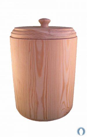 geölt Holzurne Urnen kaufen rustikal Urne aus Holz Fichte