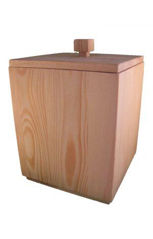 ➜ Holzurne geölt - top Ansicht - edle Urne aus Holz Buche - Holzurnen öko - Urnen kaufen ✔
