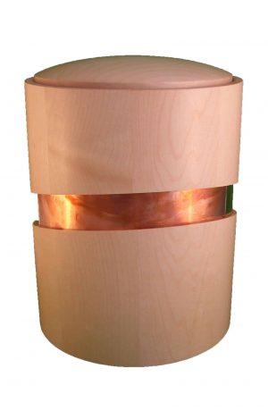 Holzurne mit Dekoration - Urne aus Holz kaufen