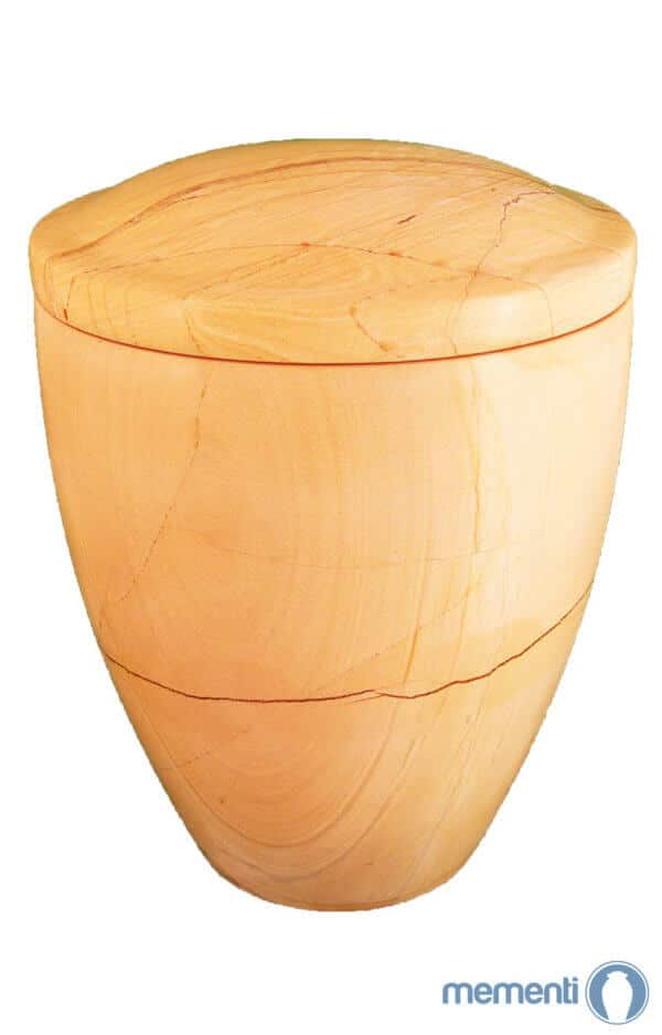 ✯ Burma Teak Marmor Urne glänzend ✔ cremeweiß ✔ Urnen kaufen ➥