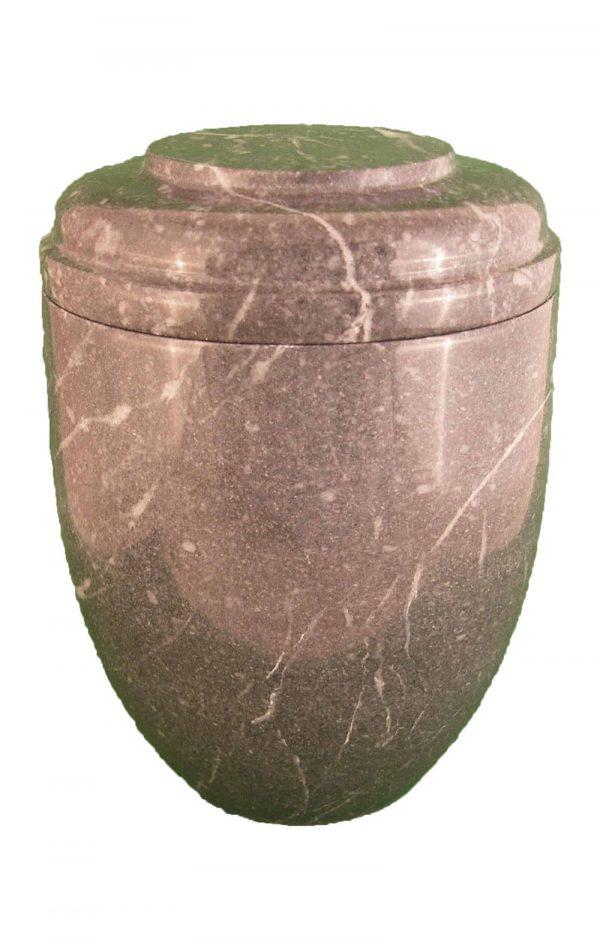 ✟ Zebra grey Marmor Urne ✔ grau-schwarz und rund ✔ Urnen online kaufen ➥