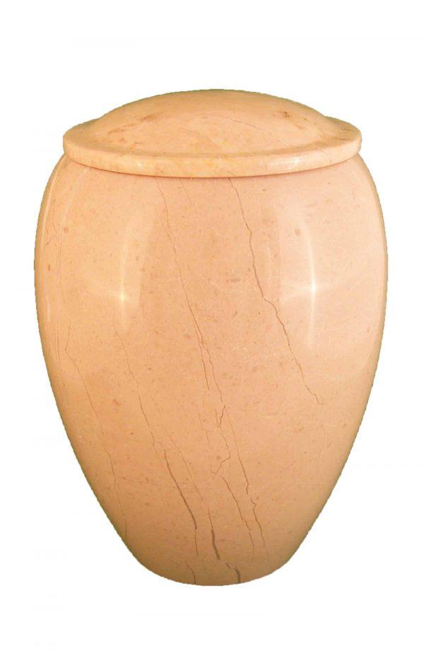❖ Verona Marmor Urne ❖ beige cremeweiß ❖ Urnen kaufen ❖