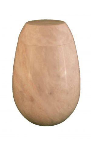 ♦ Ziarat Marmor Urne ✓ weiss grau ✓ glänzend ✓ rund ✓ Urnen kaufen ♦