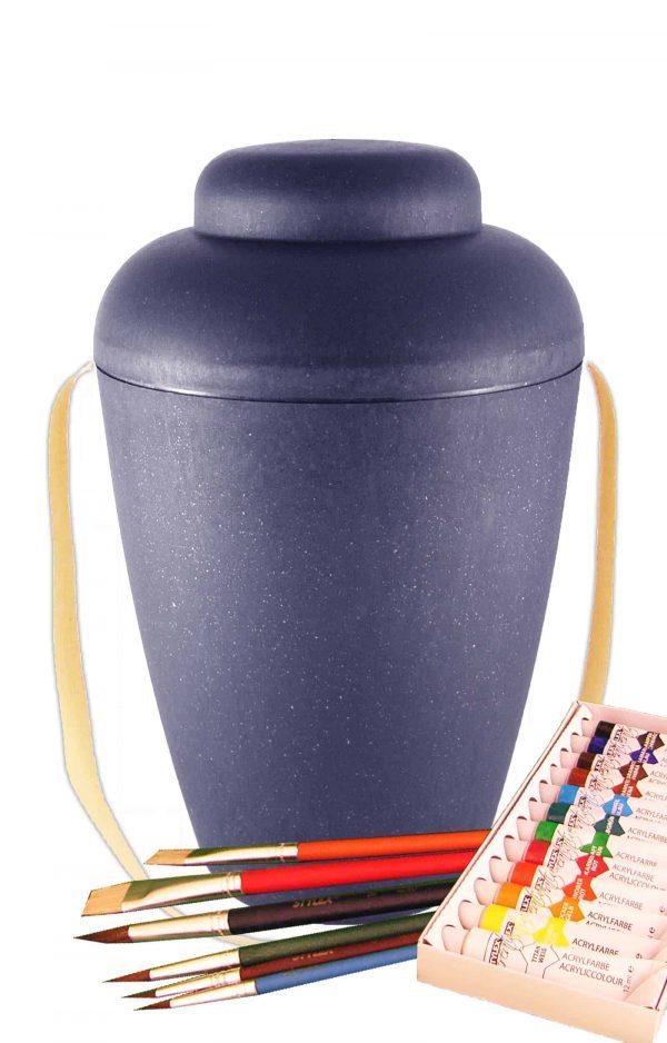 de MVB1403 bio urne malset vale blau urnen selbst bemalen
