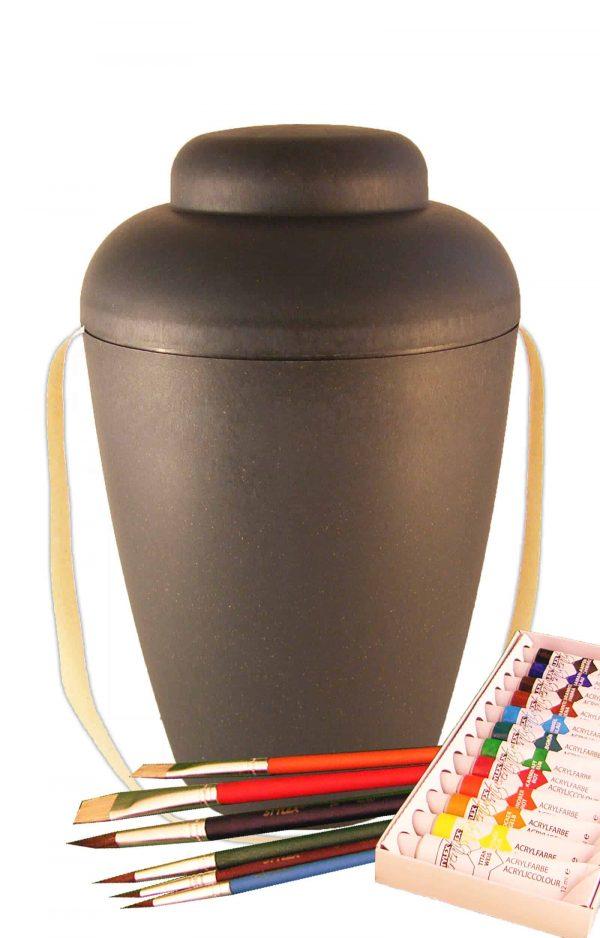 MVG1406 bio urne malset vale grau urnen selbst bemalen
