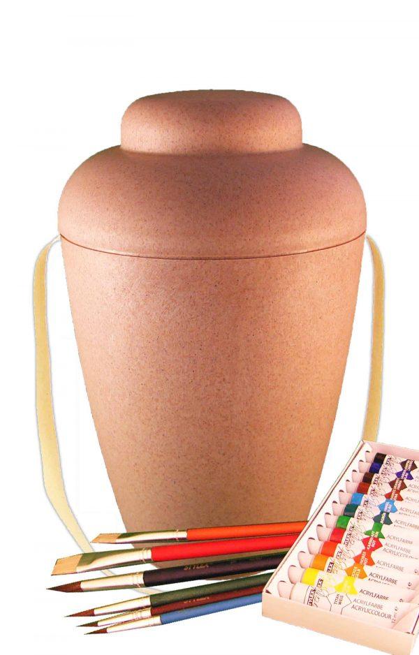 MVN1401 bio urne malset vale natur urnen selbst bemalen