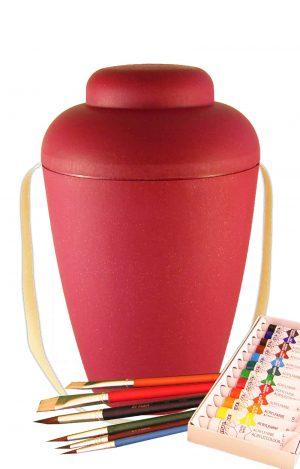 bio urne kaufen malset vale rot urnen selbst bemalen