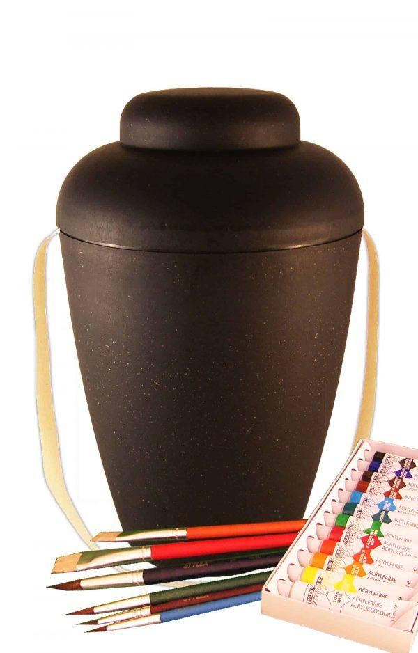 de MVS1407 bio urne malset vale schwarz urnen selbst bemalen