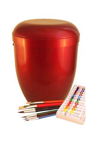 Biourne Urnen selbst gestalten rot -`ღ´- Urne kaufen Malset Pinsel