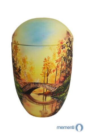 ✰✰✰✰✰ sea urn sunrise bridge forest yellow funeral urn on sale ✔