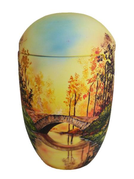 ✰✰✰✰✰ sea urn sunrise bridge forest yellow funeral urn on sale ✔