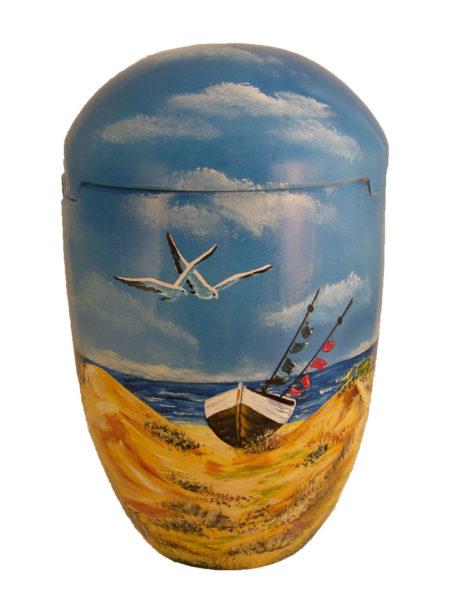 † † † † Seeurne Bio Urne Möwen Strand Meer Schiff Boot - Urnen kaufen »*†*«