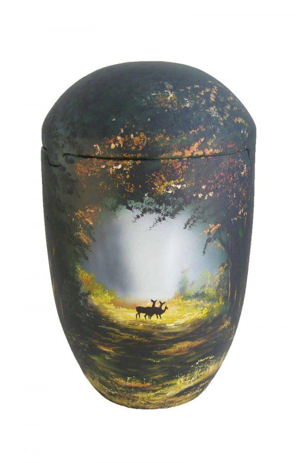 ჱܓ Seeurne Wald Hirsch Sonne Urnen kaufen Baum grün schwarz ✔