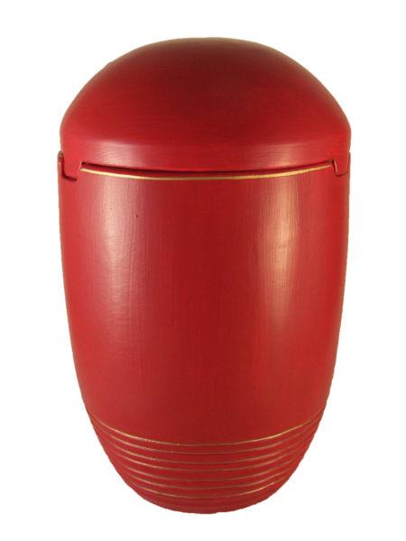 ☜✿☞ Seeurne See Urnen Bio rot Goldrand ✟ Urnen kaufen ✔