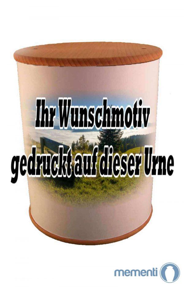 Schöne Biourne Zylinder rundum bedruckt - Urne kaufen Urnen günstig