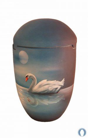 ✟ Seeurne See Urnen Himmel Mond Schwan grau blau Nacht Bio Urnen Urne kaufen ✔