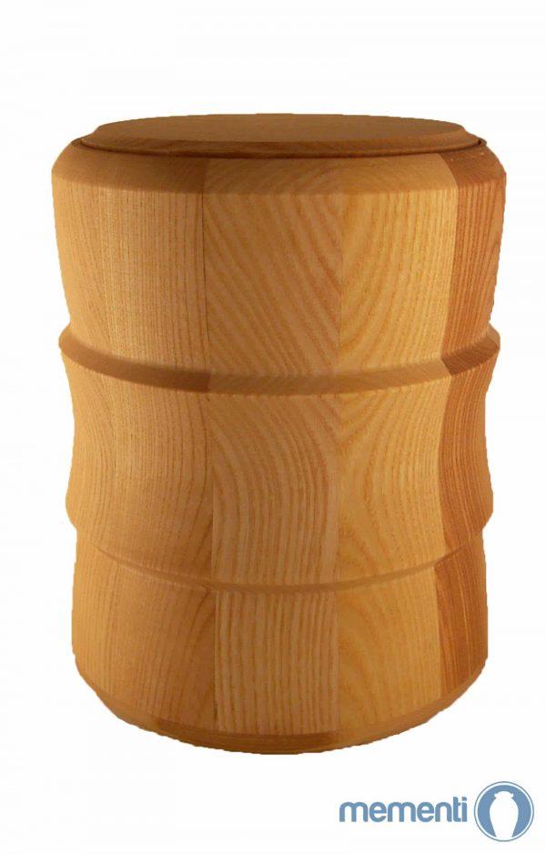 Urne aus Holz