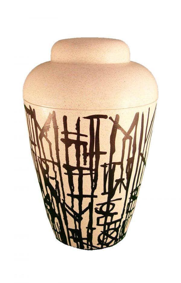 Künstler Urne - schwarz weiß