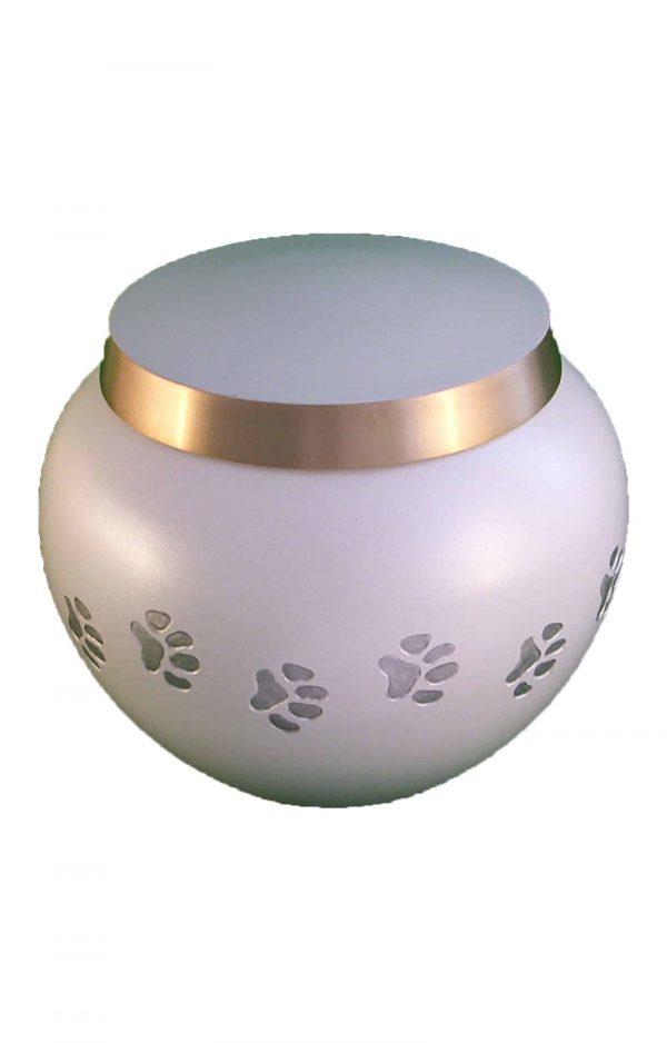 de-TIB6012S-weiß-und-golden-pfotenabdruck-tier-urne