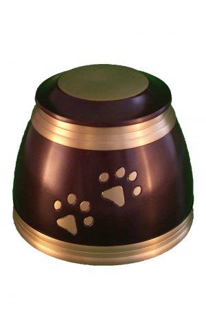 de-TIB970-braune-und-bronzene-pfotenabdruck-tier-urne