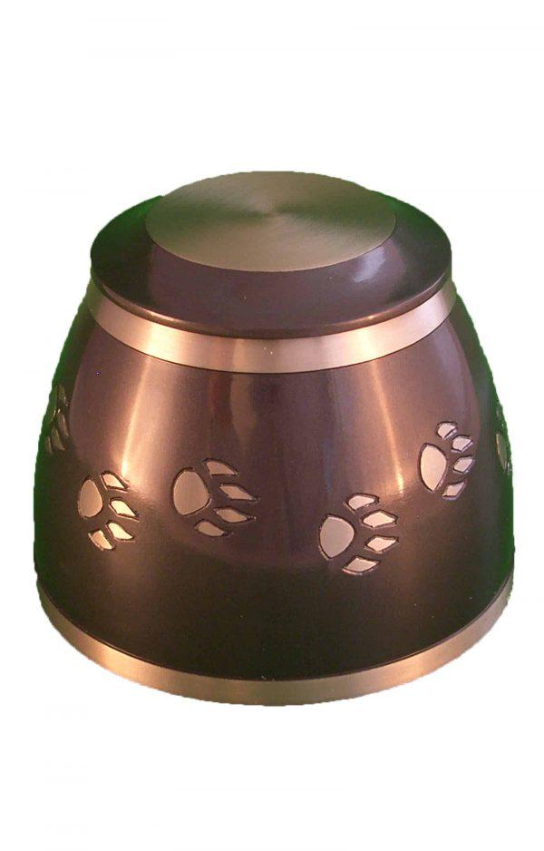de-TIB972-dunkelbraune-und-bronze-pfotenabdruecke-tier-urne-für-asche