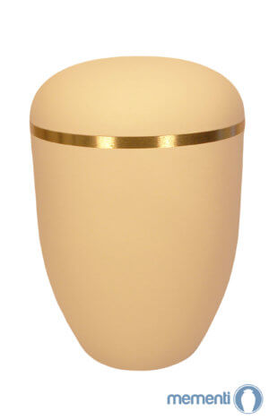 Crme urne Matt mit Goldring
