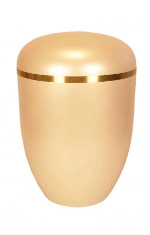 glänzende creme Bio Urne