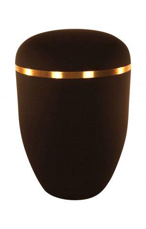 Dunkel Braune Urne mit Goldring