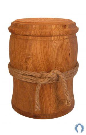 Holzurne aus Wildeiche